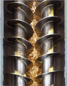 dwuwałowe przenośniki ślimakowe